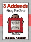 3 Addends: Common Core Addition Story Problems