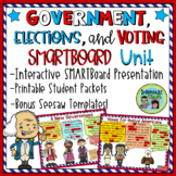 3 Branches of Government SMARTBoard File with Printable Ac