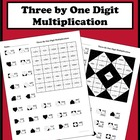 3 By 1 Digit Multiplication Color Worksheet