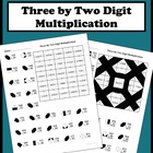 3 By 2 Digit Multiplication Color Worksheet
