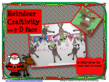 3-D Reindeer Craftivity