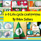 3-D Science Life Cycle Craftivities Bundle