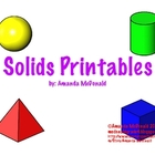 3-D Solid Shape Printables