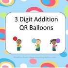 3 Digit Addition Balloons
