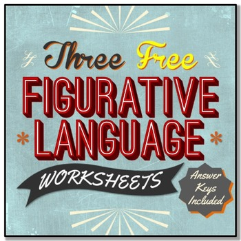 3 Free Figurative Language Worksheets By Stacey Lloyd Tpt