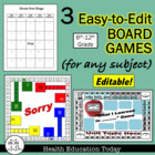 3 Easy-to-Edit Generic Board Games for Any Subject You Teach