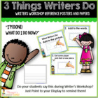 3 Things Writers Do Posters with Chevron Borders
