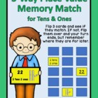 3-Way Place Value Memory Match - tens and ones