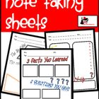 3 in 1 - Taking Notes Worksheets