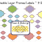 30 Double-Layer Frames/Labels ~ 2 Sizes