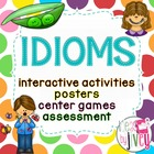 30 Idioms: Interactive Notebook Activities, Centers, Poste