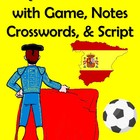 33 Page Spain (Espana) Unit with Game, Crosswords, Notes,
