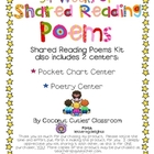 34 Weeks of Shared Reading Poems/Pocket Chart /Poetry Centers
