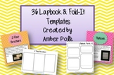 36 Editable Lapbook and Fold-It Templates