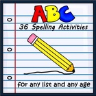 Spelling Workbook Activities for Any List
