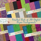 3D Bundled Pack of Digital Paper Backgrounds