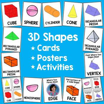 3D Shapes Build & Learn, Search & Sort, Think & Write Pack    **Differentiated**