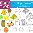 3D Shapes Clip Art Set