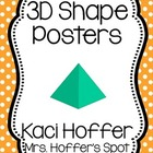 3D Shapes Poster {Little Polka Dots}