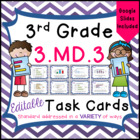 3.MD.3 Task Cards for Third Grade Math Common Core - Bar G