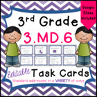 3.MD.6 Task Cards for Third Grade Math Common Core - Measu