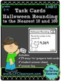 3.NBT.1 Halloween Rounding to 10 & 100 Task Cards {Common