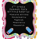 3d Grade Common Core Writing Rubrics