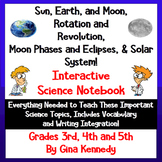3rd & 4th Grade Interactive Science Notebook Solar System,