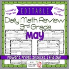 3rd Grade Common Core Daily Math Review/Morning Work- May