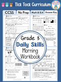 3rd Grade Common Core Daily Morning Bell Workbook