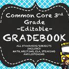 3rd Grade Common Core Gradebook Bundle-All Subjects