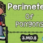 3rd Grade Common Core MD.8: Perimeter: Math Tasks, Exit Ti