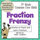 3rd Grade Common Core Math Fraction Frenzy