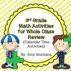 3rd Grade Common Core Math Review Activities {Calendar Time}
