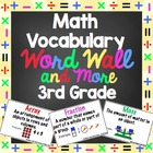 3rd Grade Common Core Math Vocabulary