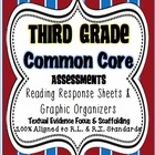 3rd Grade Common Core: Reading Response Sheets/ Graphic Or