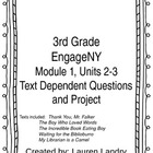 3rd Grade Engage NY Unit 1, Module 2 and 3 Text Dependent
