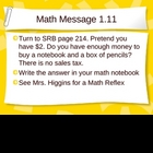 3rd Grade Everyday Math Lesson 1.11