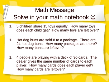 3rd Grade Everyday Math Lesson for 4.4