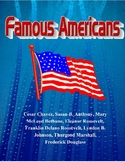 3rd Grade Famous Americans-Unit-Reading Comprehension-Soci