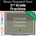 3rd Grade Fraction Jeopardy-Like PowerPoint Game