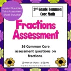 3rd Grade Fractions Assessment Common Core Math