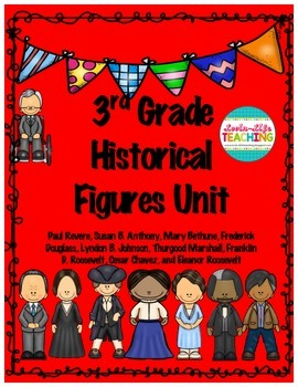 3rd Grade Historical Figures (all 9) Unit; Great Test Prep