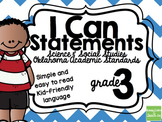 3rd Grade I Can Statements Oklahoma Academic Standards Sci