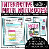 3rd Grade Interactive Math Notebook - NBT & NF