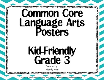 3rd Grade ELA Common Core Posters