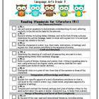 3rd Grade LA & Math Common Core Checklist Bundle (Owls)