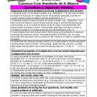 3rd Grade Math Common Core Standards At-A-Glance