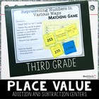 3rd Grade Math TEST Prep Task Cards & Games Set 2 - 3.NBT
