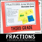 3rd Grade Math TEST Prep Task Cards & Games Set 3 - 3.NF